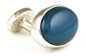 Cufflink with blue oval