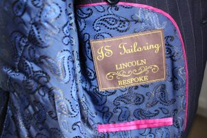 Tag for JS Tailoring Lincoln Bespoke.