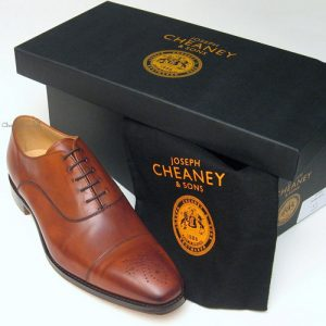 cambridge cheaney mens shoes dark leaf box
