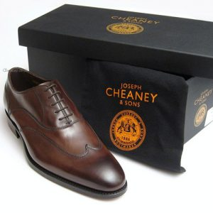 cheaney balmoral bronzed brown leather imperial box
