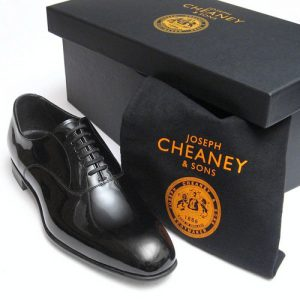 cheaney kelly black patent dress shoes box