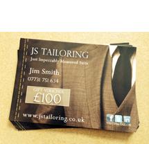 JS Tailoring Business Cards