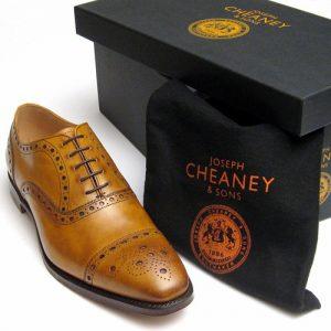 maidstone original chestnut cheaney brogues box